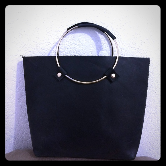 tribe alive Handbags - Tribe Alive Black Small Leather Tote